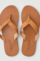 American Eagle Outfitters AE Folded Strap Leather Flip Flop
