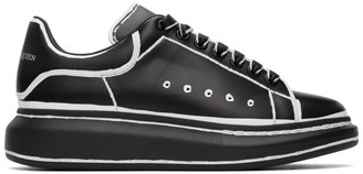 Alexander McQueen Black and White Outline Oversized Sneakers
