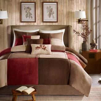 Home Essence Warren 7-Piece Microsuede Comforter Set