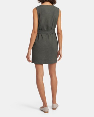 Theory Belted Shift Dress in Good Linen