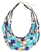 Alexis Bittar Lapis, Chrysocolla & Pyrite Beaded Necklace