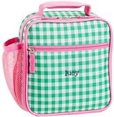 Pottery Barn Kids Classic Lunch Bag, Mackenzie Green/Pink Gingham