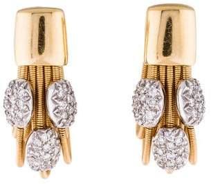 Marco Bicego 18K Diamond & Chain Earrings