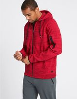 Marks and Spencer Cotton Rich Hooded Neck Sweatshirt