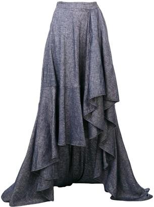Talbot Runhof Asymmetric Long Skirt