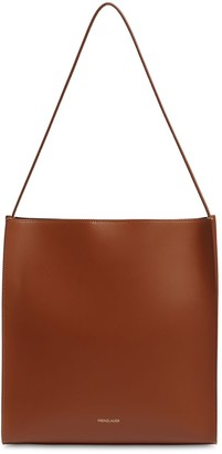 Square Smooth Leather Tote Bag