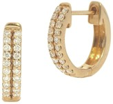 Nephora 14K Yellow Gold and Diamonds Two Row Pave Huggie Earrings