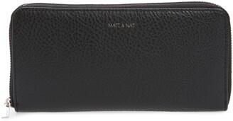 Matt & Nat Zip Around Faux Leather Wallet
