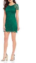 Xtraordinary Scalloped Lace Sheath Dress