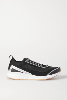 adidas by Stella McCartney Boston Metallic-trimmed Primeknit Sneakers - Black