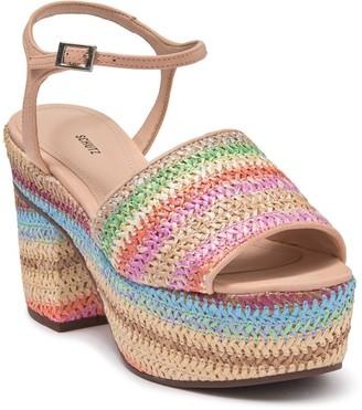 Schutz Ziquiele Platform Ankle Strap Sandal