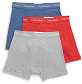 Calvin Klein Three-Pack Cotton Boxer Briefs