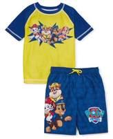 Trunks Paw Patrol Boys Rash Guard Swim Shirt & Swim Trunks, 2-Piece Set, UPF 50+, Sizes 4-7