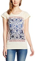 Rich & Royal rich&royal Women's Short Sleeve T-Shirt - Beige -