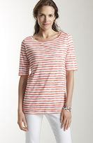 J. Jill Summer linen knit striped tee