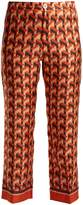 F.R.S - FOR RESTLESS SLEEPERS CEO geometric-print silk-twill trousers