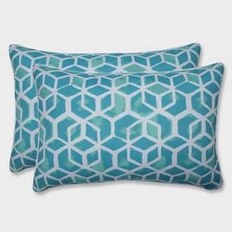 Modern Outdoor Pillow Perfect 2pk Oversize Celtic Surfside Rectangular Throw Pillows Blue