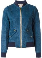 Chloé quilted bomber jacket - women - Lamb Skin/Polyester/Wool - 38
