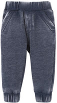 Andy & Evan Childrenswear Burnout Jersey Track Pants, Navy, Size 3-24 Months