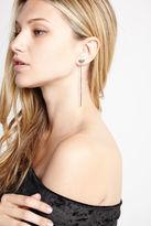 BCBGeneration Geometric Drop Earrings - Silver