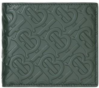 Burberry embossed Monogram bi-fold wallet