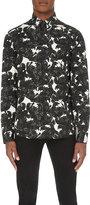 Just Cavalli Jaguar-print Slim-fit Cotton Shirt