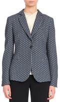 Giorgio Armani Geometric Cotton Jacquard Jacket