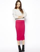 ASOS Midi Pencil Skirt In Jersey - Pink