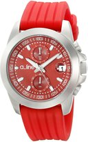 A Line a_line Women's 80010-05-RD Aroha Chronograph Dial Silicone Watch