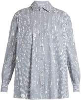 Tomas Maier Painter striped cotton-poplin shirt