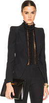 Alexander McQueen Peak Shoulder One Button Jacket