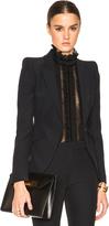 Alexander McQueen Peak Shoulder One Button Jacket