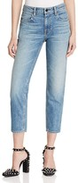 Alexander Wang Ride Straight Crop Jeans in Light Indigo Aged