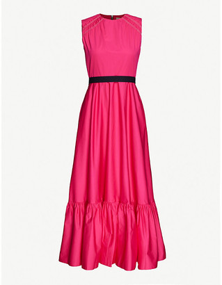 Roksanda Blaise sleeveless frill-trim cotton maxi dress