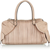Valentino Bow-embellished pleated leather bag