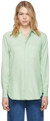 Ami Alexandre Mattiussi Green Oversized Button Down Shirt