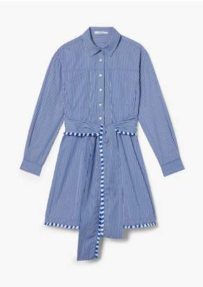 Derek Lam 10 Crosby Iona Belted Mini Stripe Shirt Dress