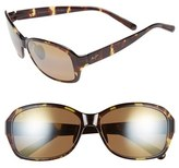 Maui Jim Women's 'Koki Beach' 56Mm Polarized Sunglasses - Black And Grey Tortoise/ Grey