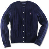 Ralph Lauren Cable Cardigan, Toddler & Little Girls (2T-6X)