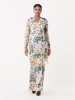 Diane von Furstenberg Sharon Crinkle Chiffon Maxi Wrap Dress