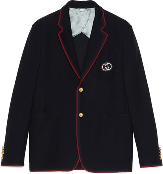 Gucci Wool cotton jacket with patch