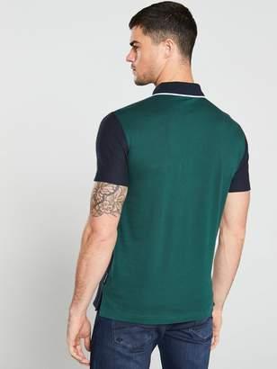 Armani Exchange Panel Polo Shirt - Navy/Bottle Green