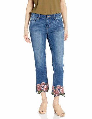 Jag Jeans Women's Ellis Cropped Boot Jean w/Embroidery