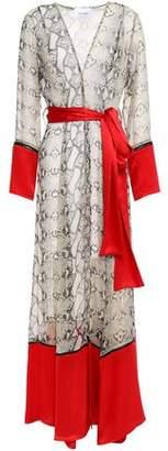 Leone We Are Belted Silk-chiffon Robe