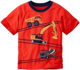 Hanna Andersson Scandi Orange Construction Vehicles Raglan Art Tee