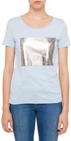 BOSS ORANGE Tashirt Logo Tee In Silver Foil