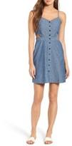Madewell Women's Cutout Chambray Minidress