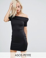 Asos Super Soft Deep Bardot Mini Bodycon Dress