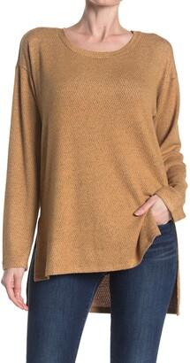 Bobeau High Side Slit Long Sleeve Tunic