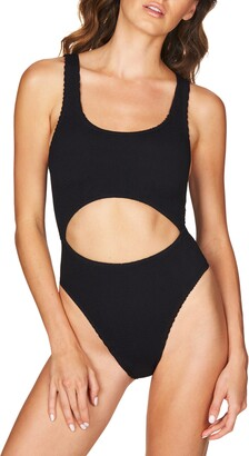 BOUND by Bond-Eye The Mishy High Cut Ribbed One-Piece Swimsuit
